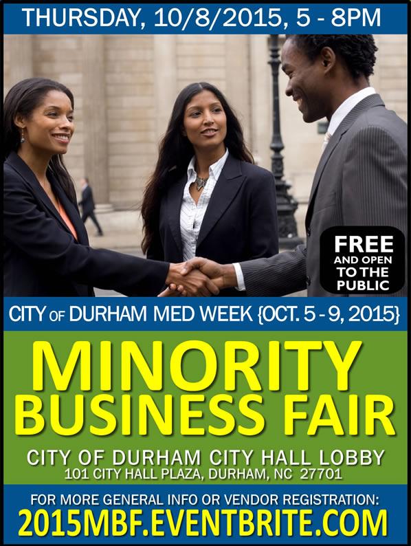 2015 Minority Business Fair | City of Durham MED Week