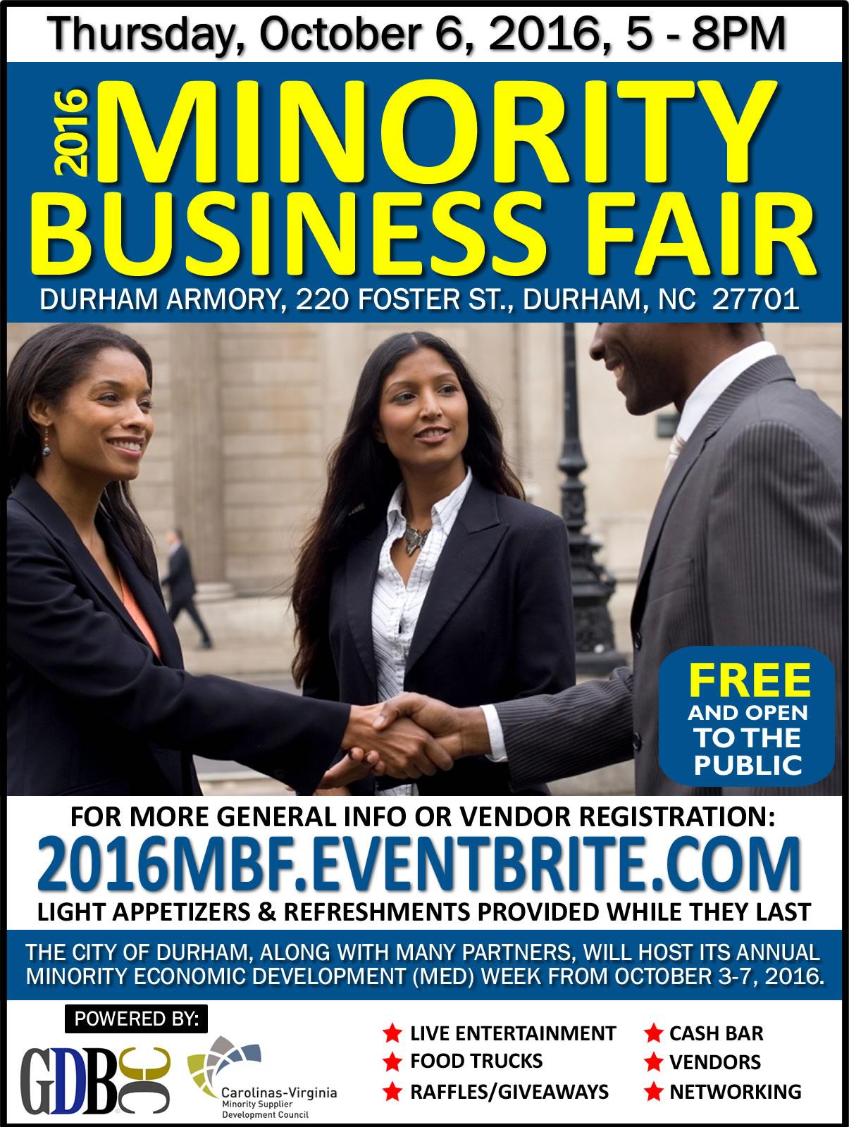 2016 Minority Business Fair | 10/6/2016