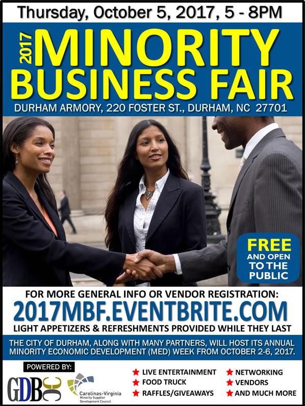 2017 Minority Business Fair - Durham MED Week