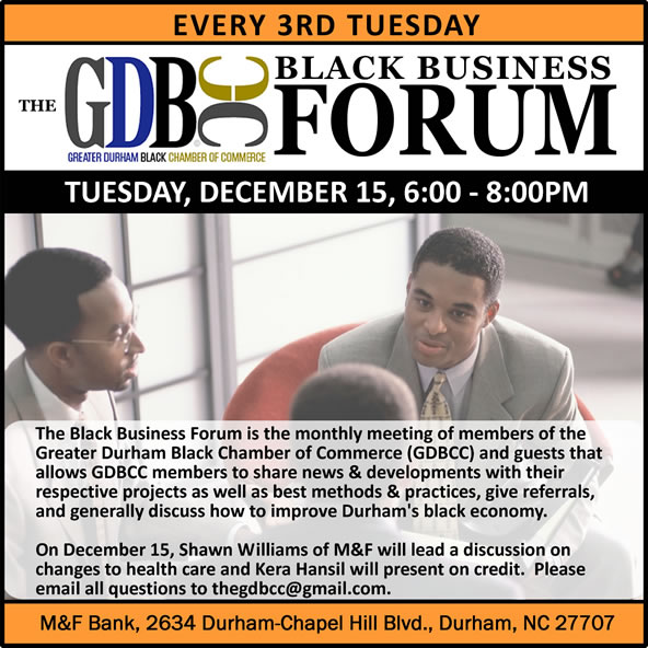 The GDBCC Forum | Discussing Health Care | Discussing Credit