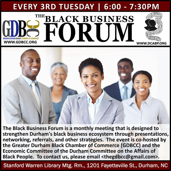 The Black Business Forum |  3rd Tuesdays