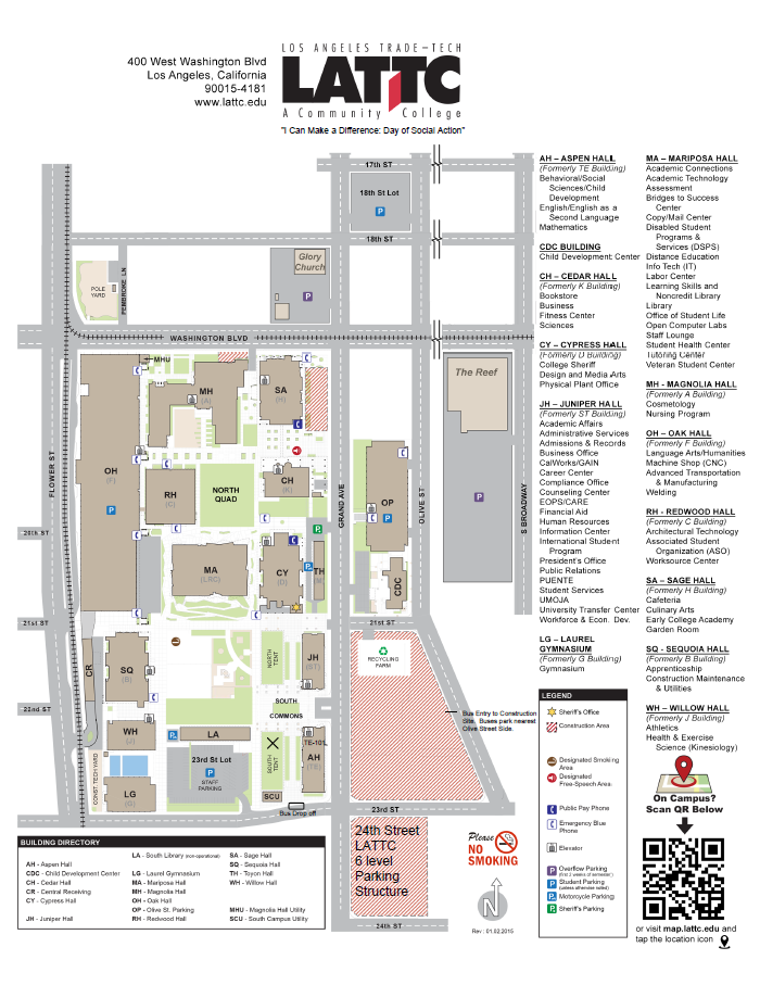 Los Angeles Technical College Map