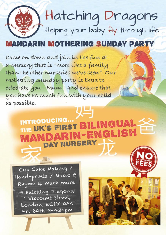 Mandarin Mothering Sunday flyer