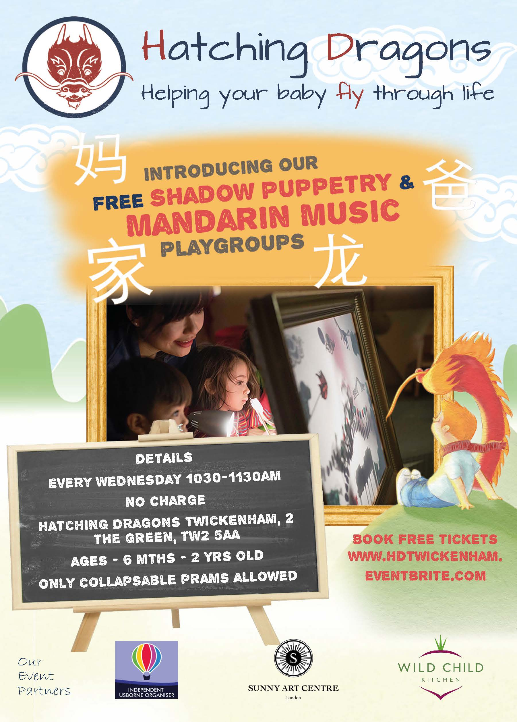 Hatching Dragons Bilingual Mandarin Music & Shadow Puppetry Playgroup