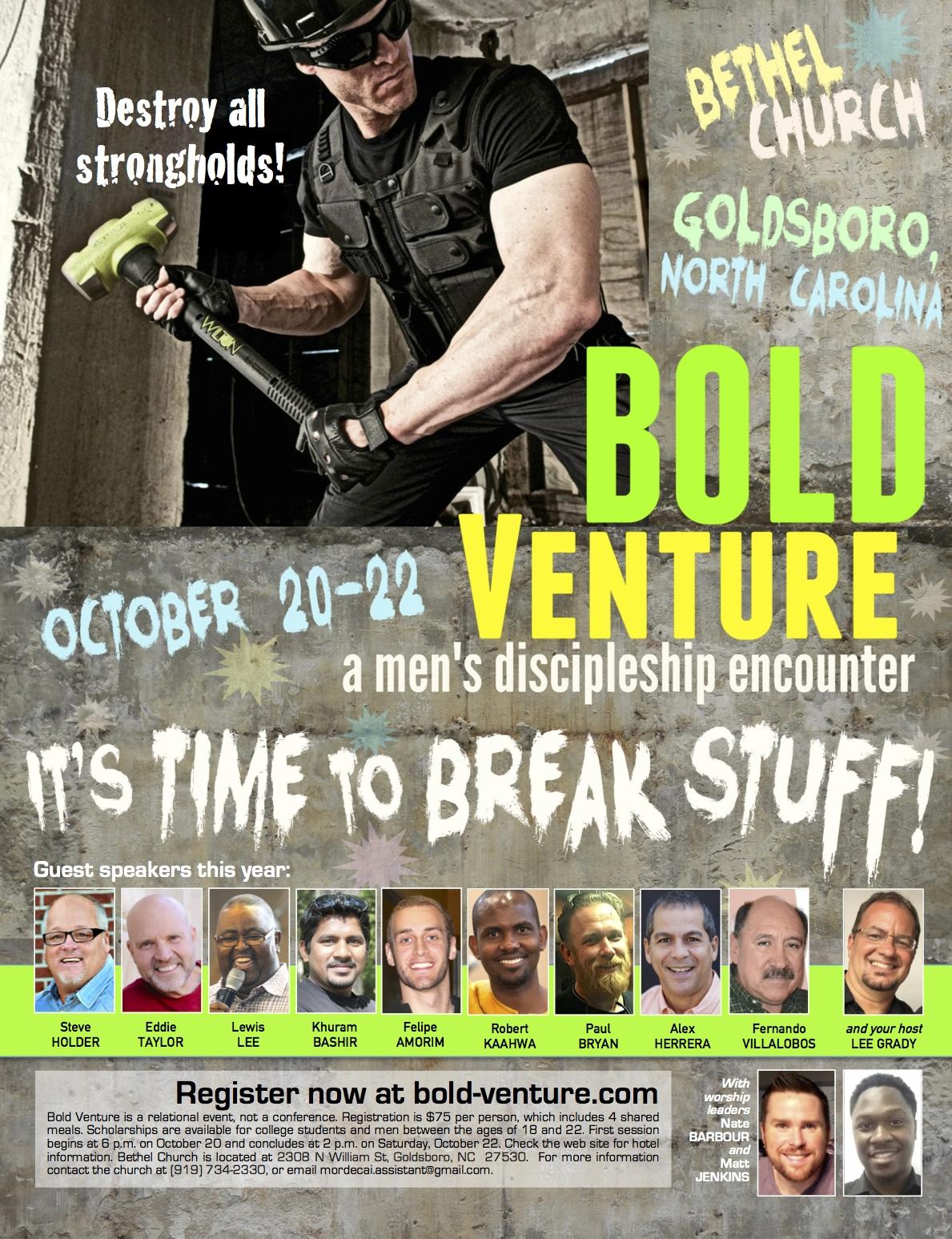 Bold Venture Men Oct 2016 NC