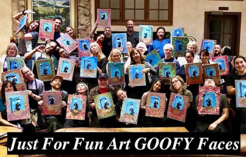 just For Fun Art Logo Goofy Faces