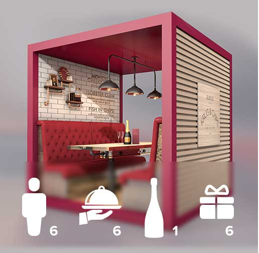 Krug & Chips Private Pod Experience (up to 6)