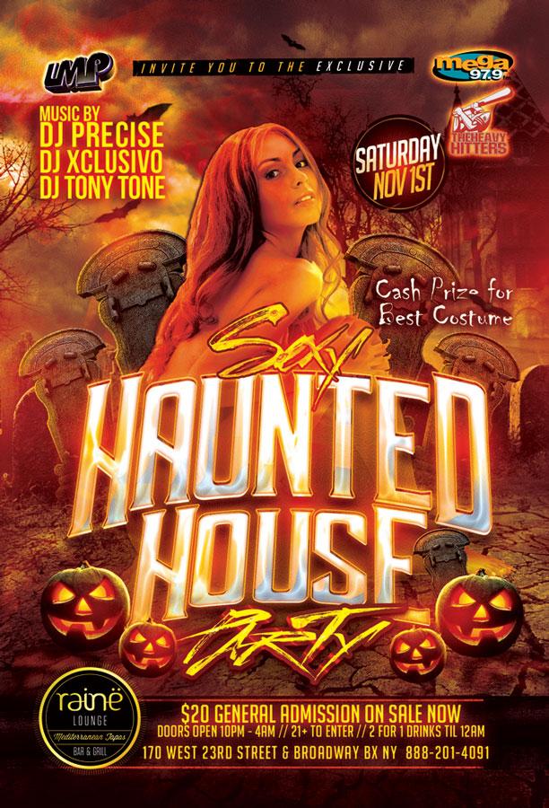 Sexy Haunted Halloween Party NYC Raine Lounge Bronx