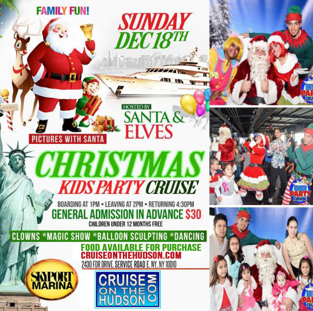 Christmas Kids Holiday Cruise NYC Kids Party New York Skyport Marina