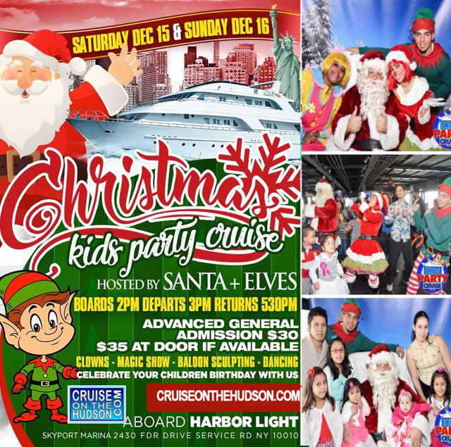 Christmas Kids Holiday Cruise NYC hosted by Santa a Kids Party New York Skyport Marina