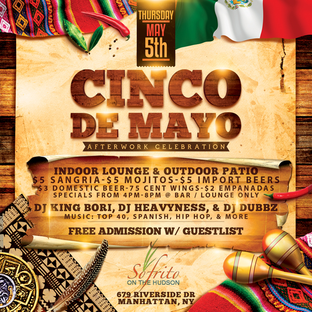 Cinco De Mayo NYC Party Sofrito NYC After Work New York