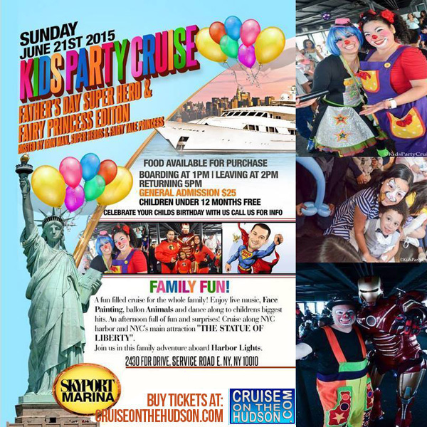 The Kids Cruise NYC Kids Fathers Day Party New York Skyport Marina