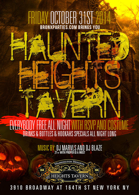 The Haunted Heights Tavern NYC Uptown  Washington Heights Halloween Party