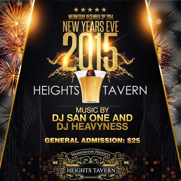 New Years Eve Heights Tavern NYC Uptown  Washington Heights  Party NYE 2015