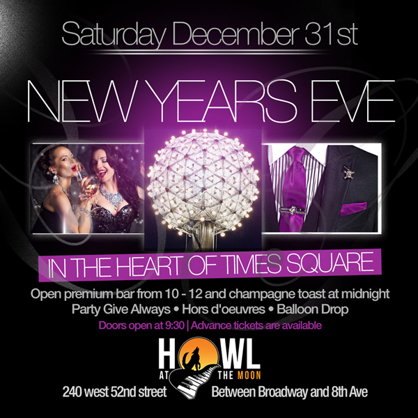 Howl at the Moon NYC New Years Eve New York Times Square NYC