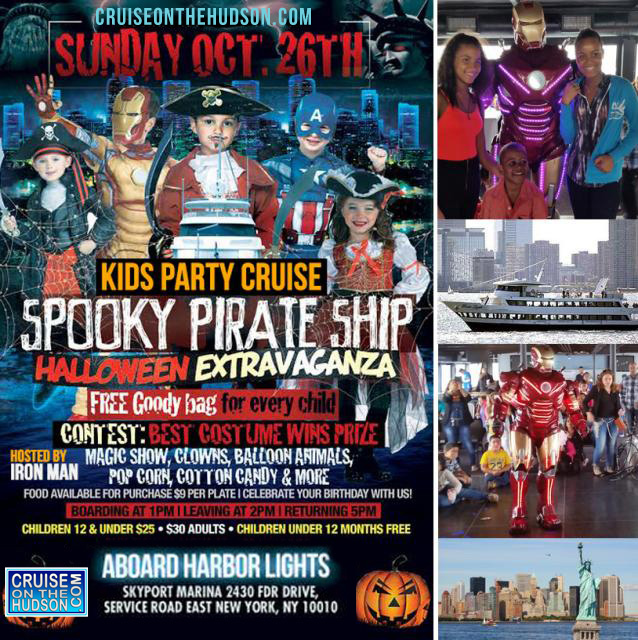 The Spooky Pirate Ship Kids Halloween Cruise NYC Kids Halloween Party New York Skyport Marina