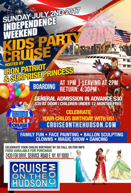 The Kids Cruise NYC Kids Independence Weekend Party New York Skyport Marina