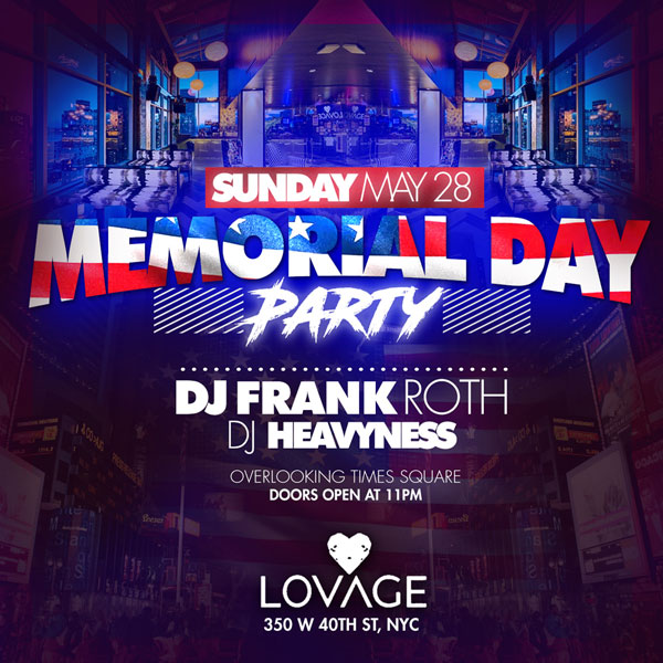 Lovage Lounge Rooftop NYC Memorial Day Weekend 2017