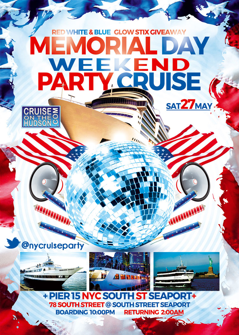 Hornblower Serenity Yacht NYC Memorial Day Weekend Party Cruise - MDWKD Dance Cruise New York