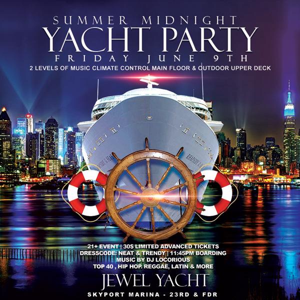 midnight cruise nyc Jewel Yacht NYC Skyport Marina New York