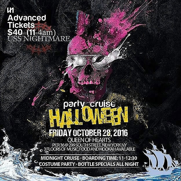 Midnight Halloween Cruise NYC Queen of Hearts Boat