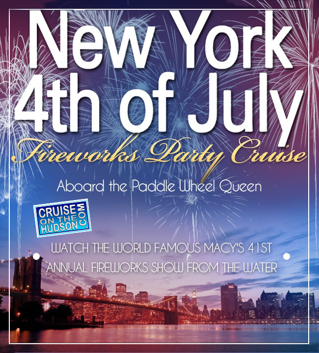 New York 4th of July Fireworks Party Cruise NYC Paddle Wheel Queen Boat