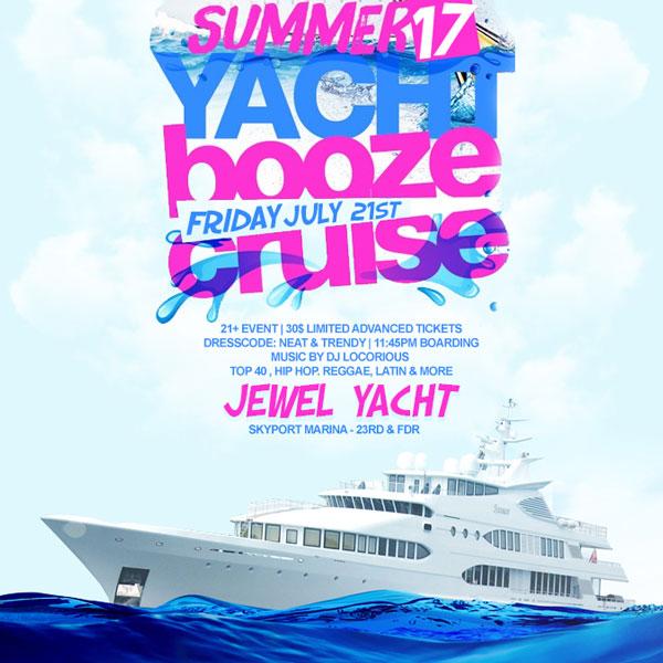 midnight booze cruise nyc Jewel Yacht NYC Skyport Marina New York
