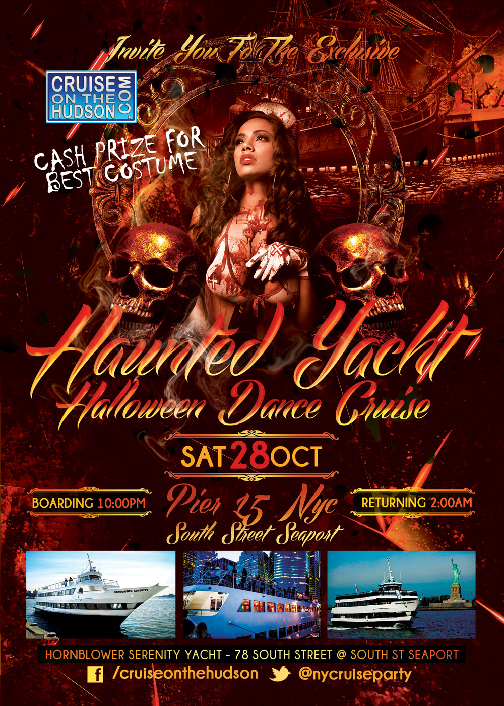 Haunted Yacht NYC Halloween Dance Cruise