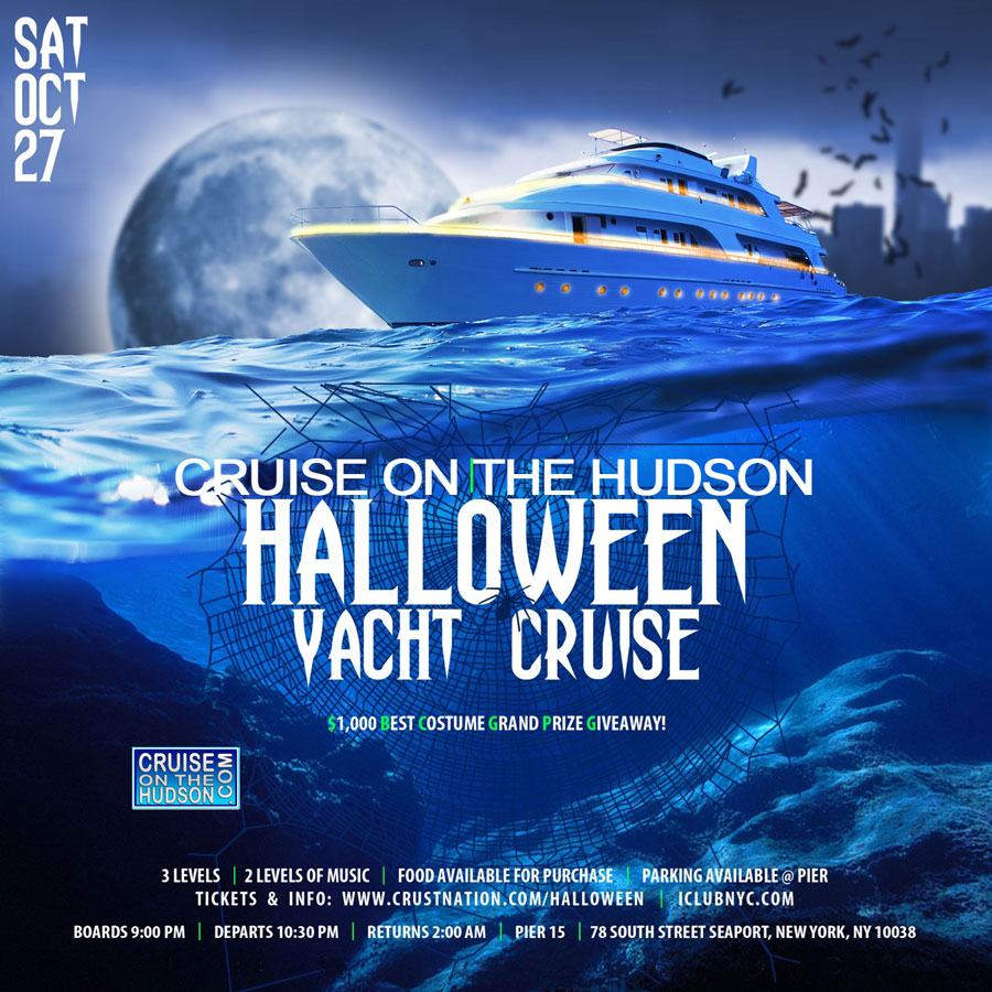 NYC Halloween Yacht Party Cruise Pier 15 NYC South Street Seaport