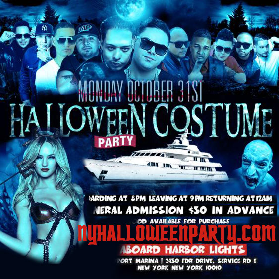NYC Halloween Costume Cruise Aboard the Harbor Light Yacht Boat, Get your boat party ticket here. Halloween Boat Party