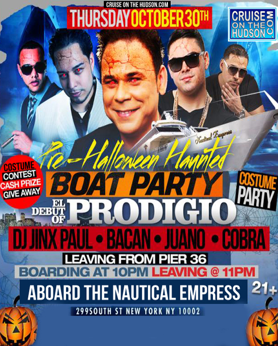 NYC Halloween Costume Cruise Aboard the Nautical Empress Yacht Boat, Get your boat party ticket here. Halloween Boat Party