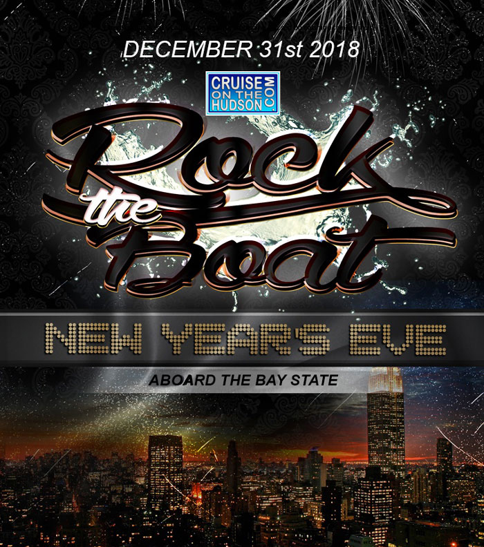 Rock The Boat NYC New Year's Eve Fireworks Party Cruise Bay State NYE 2018