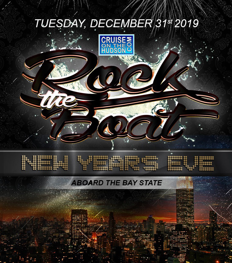 Rock The Boat NYC New Year's Eve Fireworks Party Cruise Bay State NYE 2019