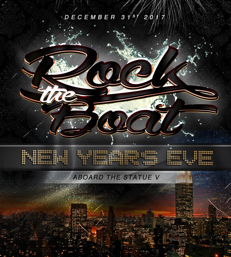 Rock The Boat NYC New Year's Eve Fireworks Party Cruise Statue V NYE 2017