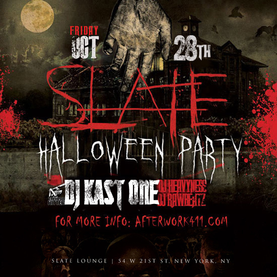 DJ Kast One The Haunted NY Halloween Party at Slate NYC Lounge Flatiron