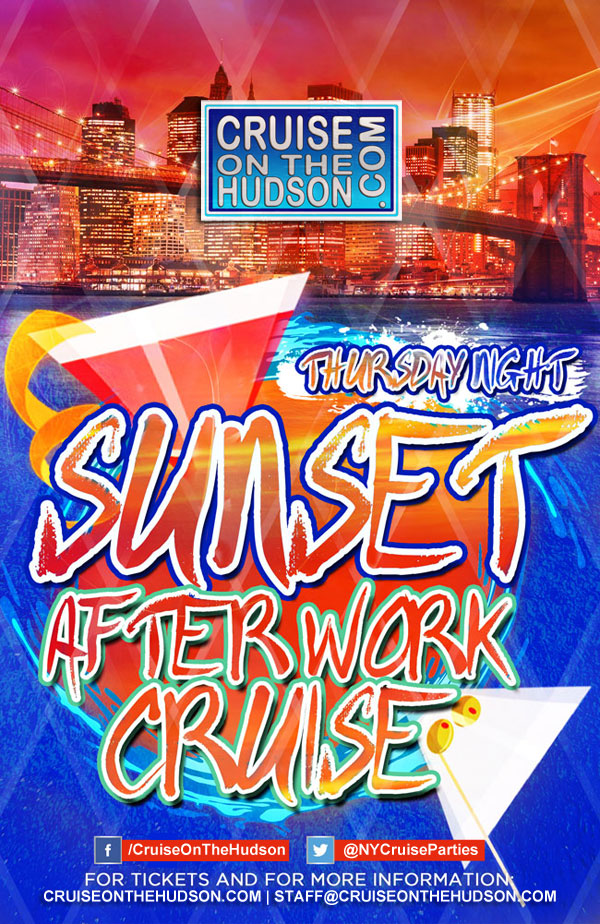 Thursday Night Sunset After Work Cruise NYC Skyport Marina