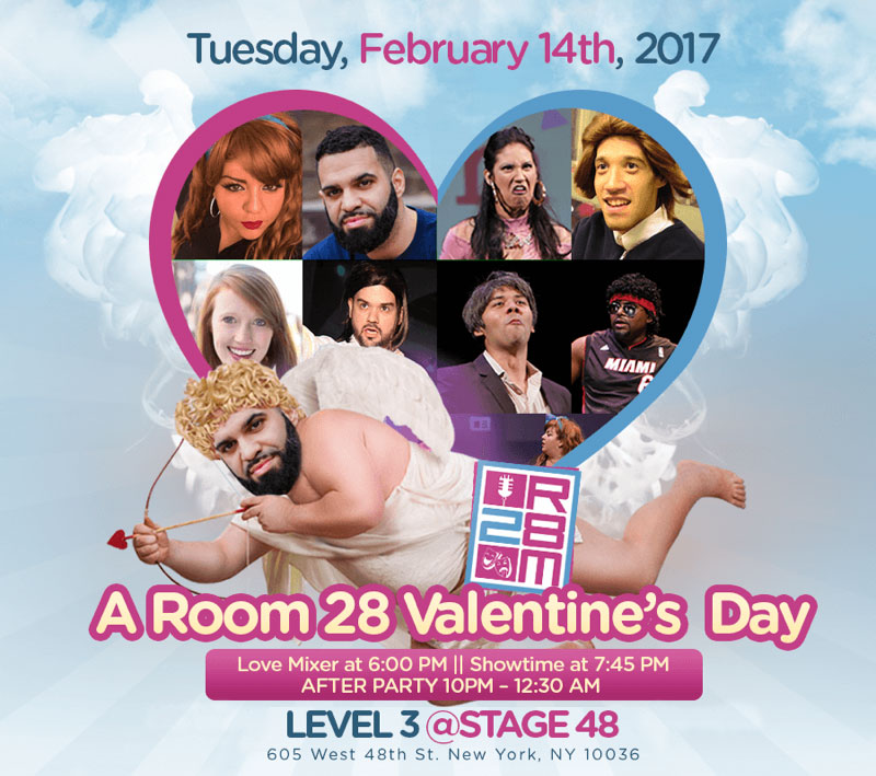 Valentines Day Comedy Show After Work NYC Stage 48 NYC Level 3 Lounge