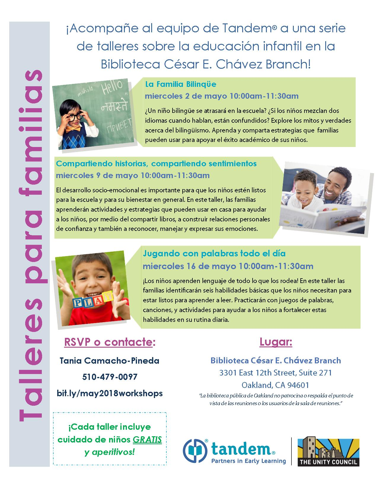 Family Training Series May Flyer