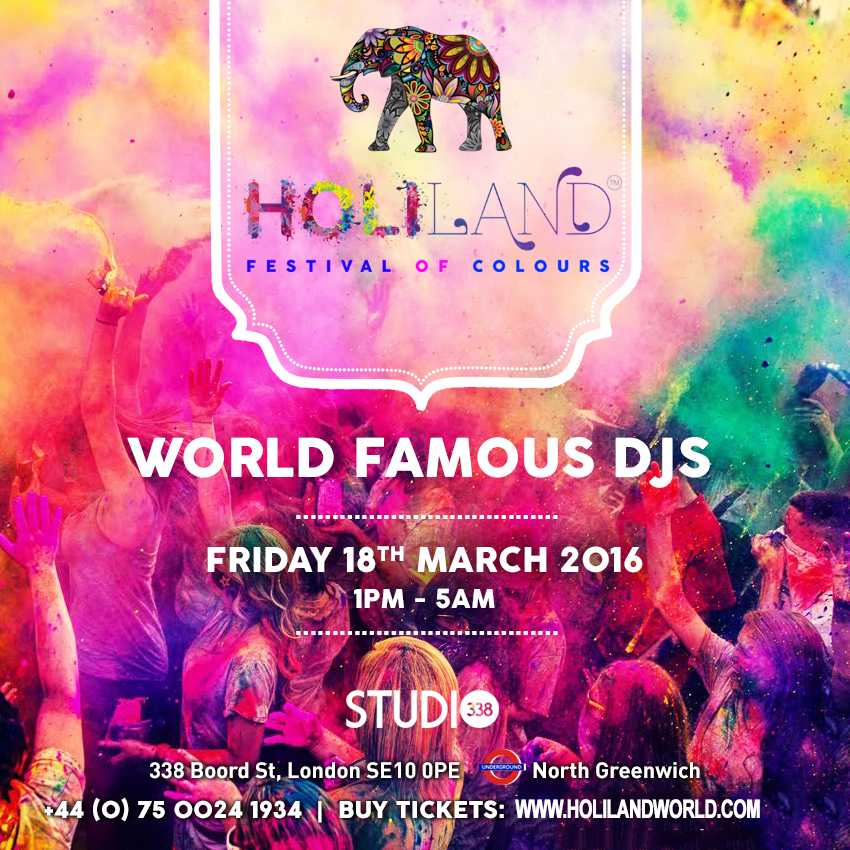 HOLI LAND Festival Of Colours - 18th March 2015 (Friday) | Tickets ...