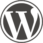 WordPress logo: large W with no text.