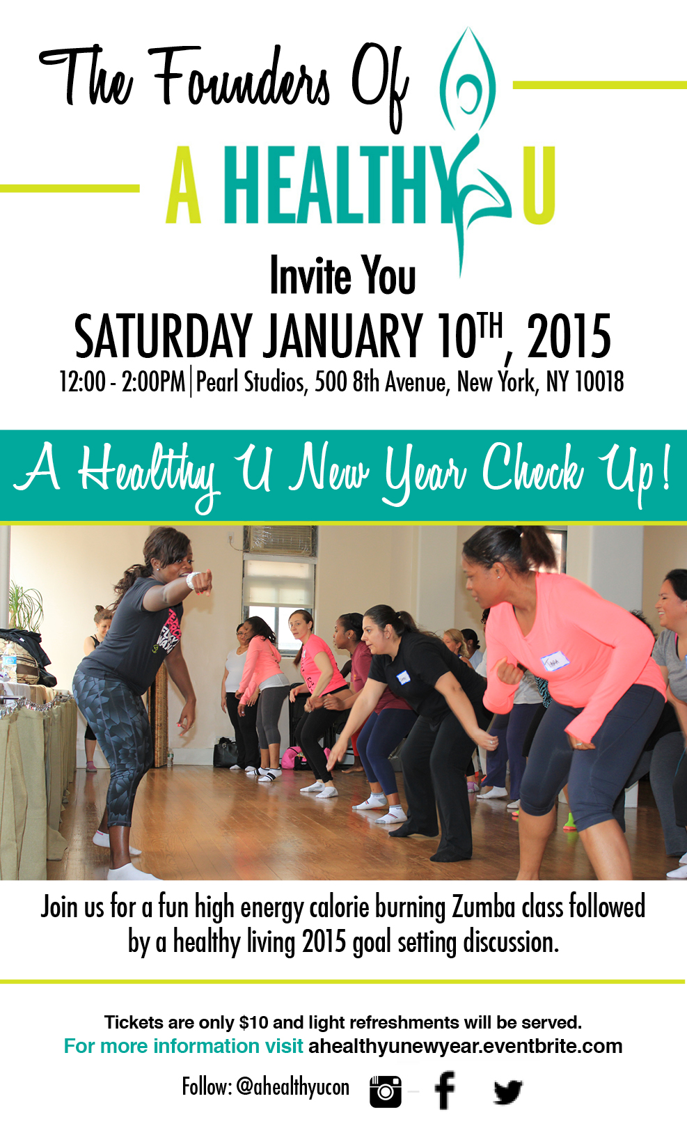 A Healthy U Zumba Vision Board Session 1/10