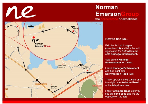 Directions to Norman Emerson Group from M1