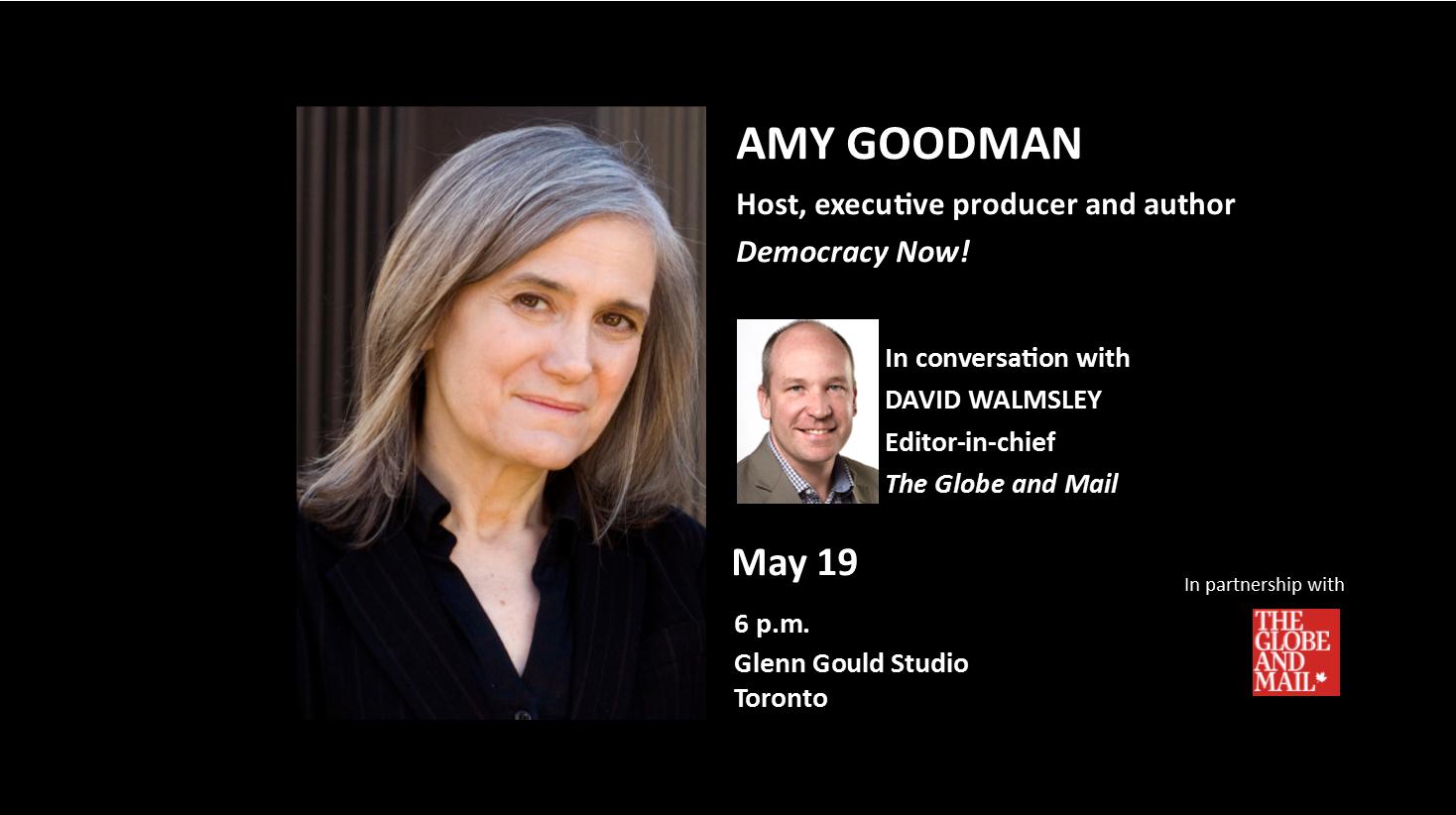 Amy Goodman with David Walmsley