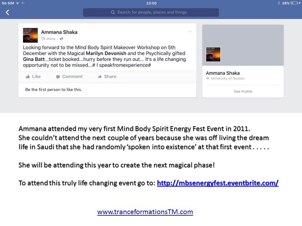 Ammana MBS Event Testimonial Year 5