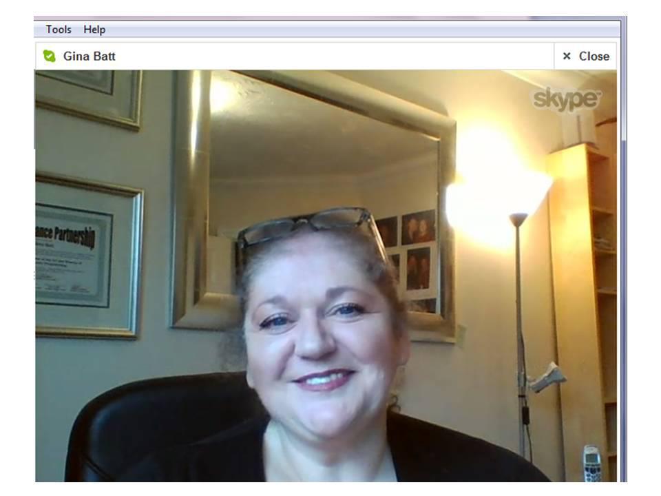 Gina Batt Skype Reading Photo