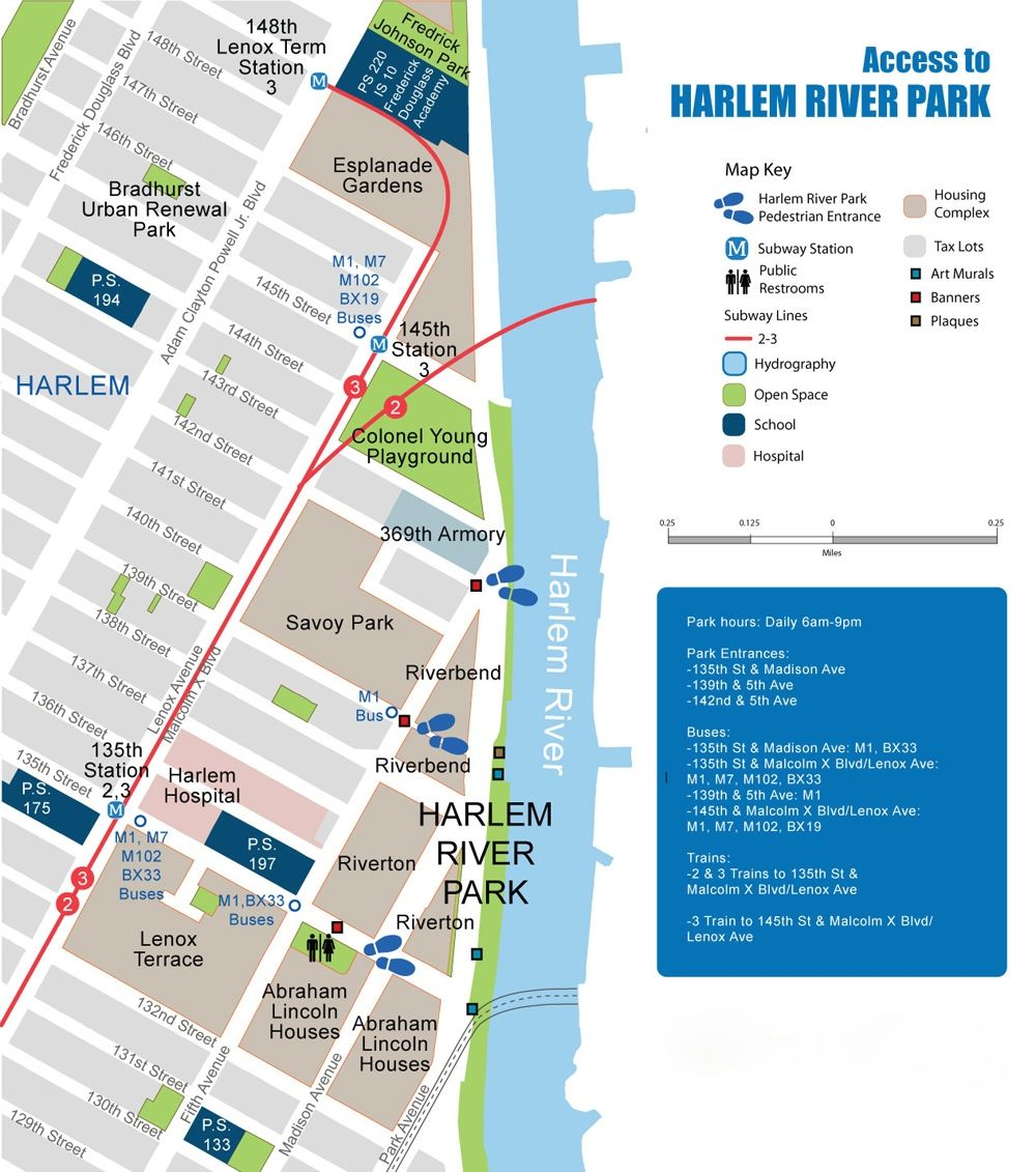 Map of Harlem River Park/Greenway