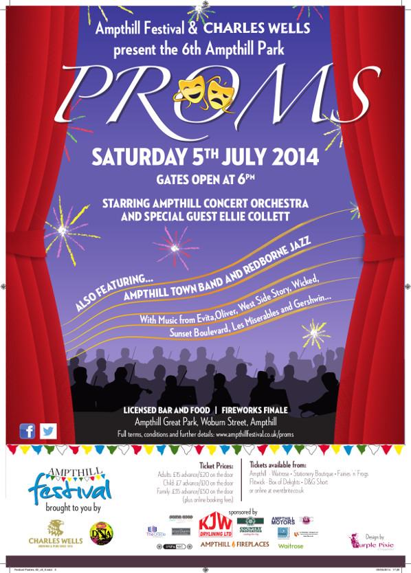 Ampthill Park Proms 2014 Poster