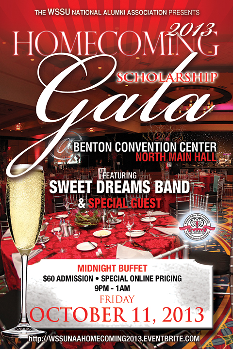 WSSUNAA Flyer for Scholarship Gala
