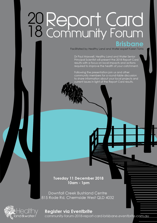 2018 Report Card Community Forum Brisbane flyer