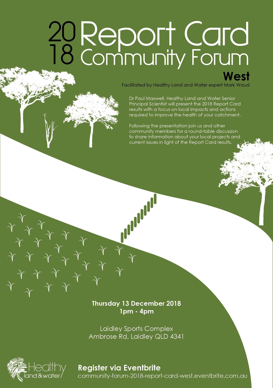 2018 Report Card Community Forum West flyer